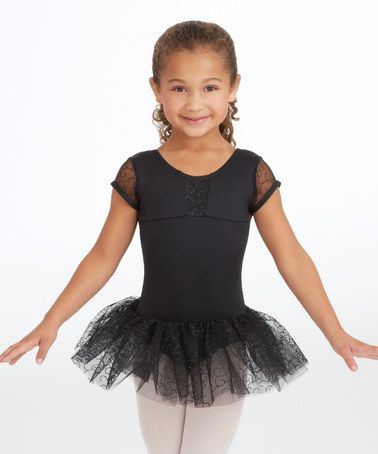 a50a2b16e Look what I found on  zulily! Black Embroidered Skirted Leotard ...