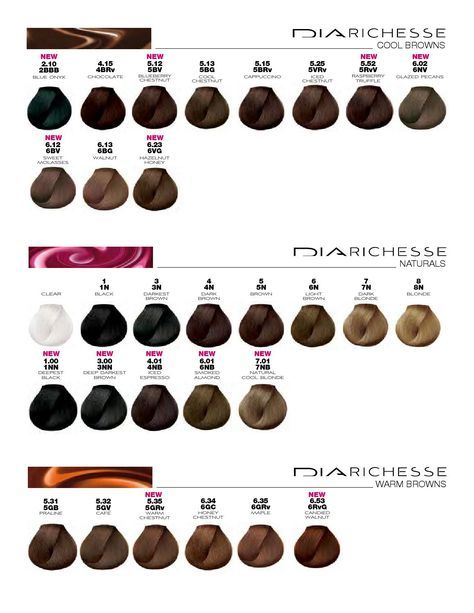 Loral Color Chart Diarichesse Dialight In 2019 Hair 2017