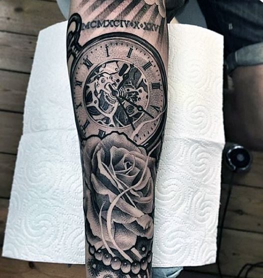 100 Pocket Watch Tattoo Designs For Men Cool Timepieces Tatto