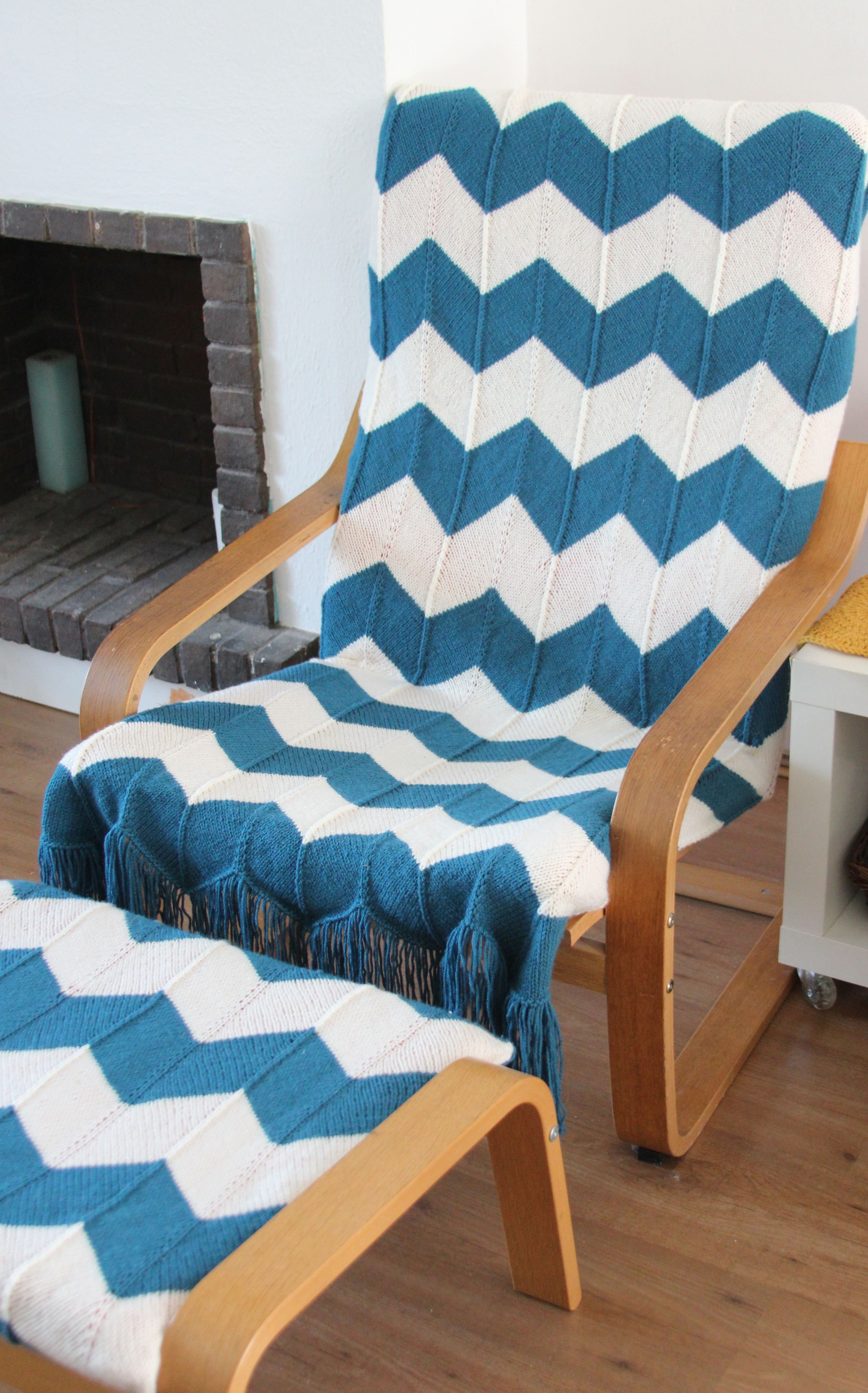 Easy update for an old Ikea Poang footstool and chair