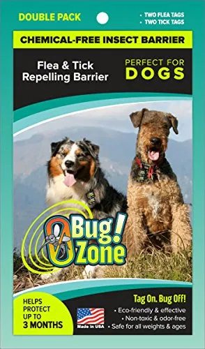 0bug Zone Flea And Tick Barrier Tag For Dogs Fleas Flea And Tick Ticks