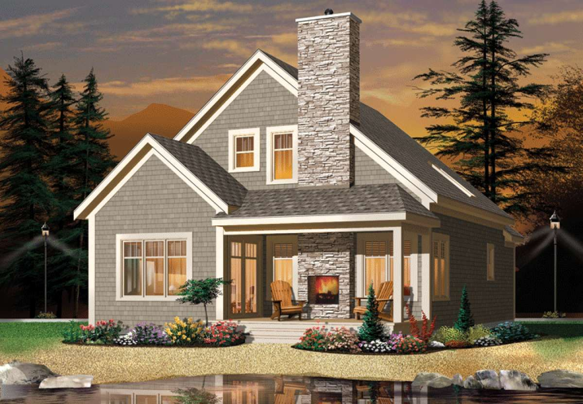 House Plan 034 01049 Narrow Lot Plan 1 742 Square Feet 2 3 Bedrooms 2 Bathrooms In 2021 Small Cottage House Plans Craftsman Style House Plans American Houses