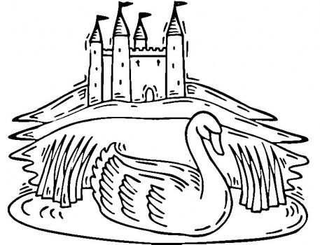 Swan Lake Coloring Pages Castle Coloring Page Coloring Pages