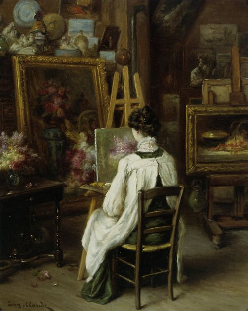 In the Artist's Studio - Eugene Claude