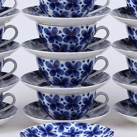 Teservis 24 Delar Mon Amie Marianne Westman Rorstrand Keramik Porzellan Europaisch Auctionet Teservis Rorstrand Tekopp
