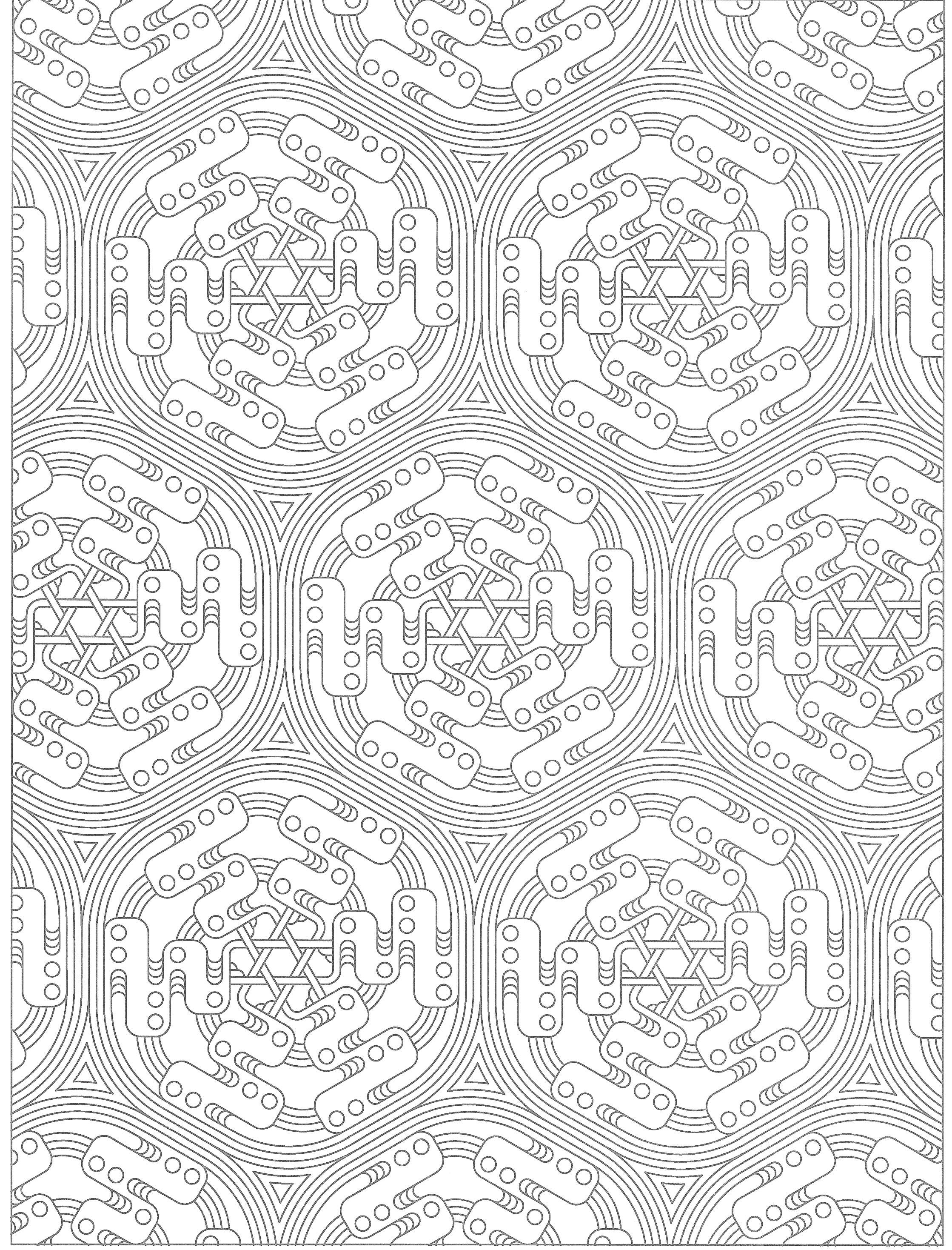 Creative Haven Tessellations Coloring Page | Zentangle patterns ...