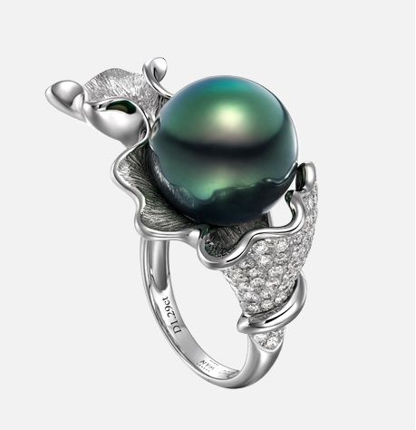 Robert Wan Pearl ring - Wave Collection