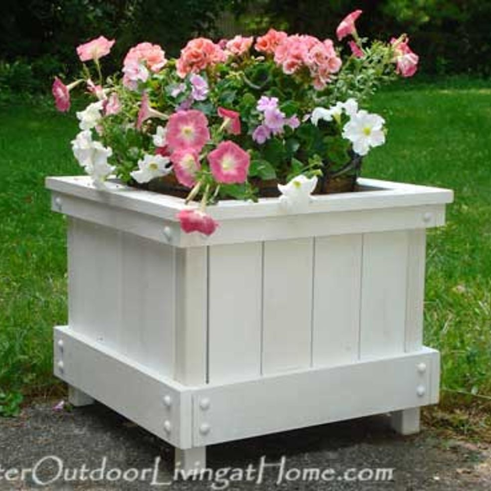 How To Make A Planter Box Cape Cod Style Planter Box Craft
