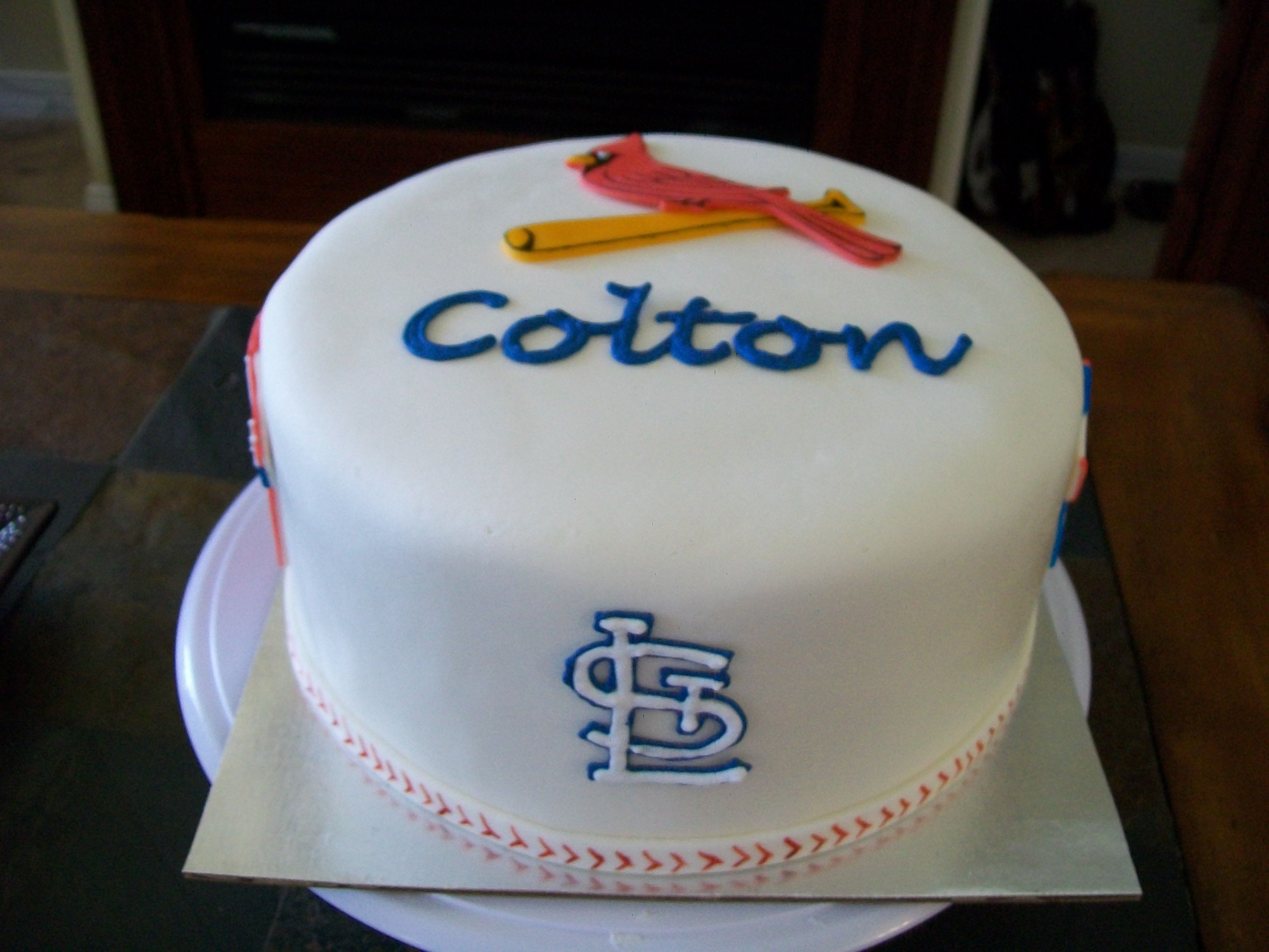 St Louis Cardinals Cake This Was A Birthday Cake For A Boy Turning