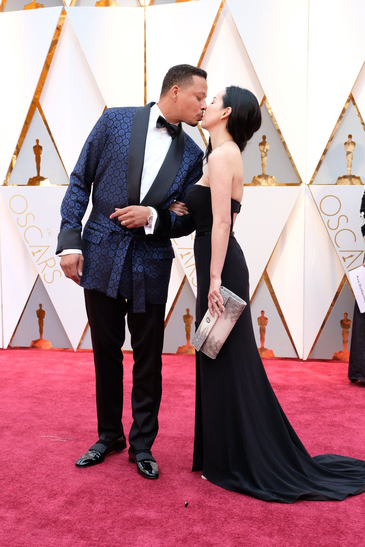 Terrence Howard And Mira Pak Oscar 2017 Red Carpet Arrival Oscars Red Carpet Arrivals 2017 Oscars 2017 Photos 89th Academy Awards Red Carpet Oscars Oscars 2017 Red Carpet Red Carpet Couples