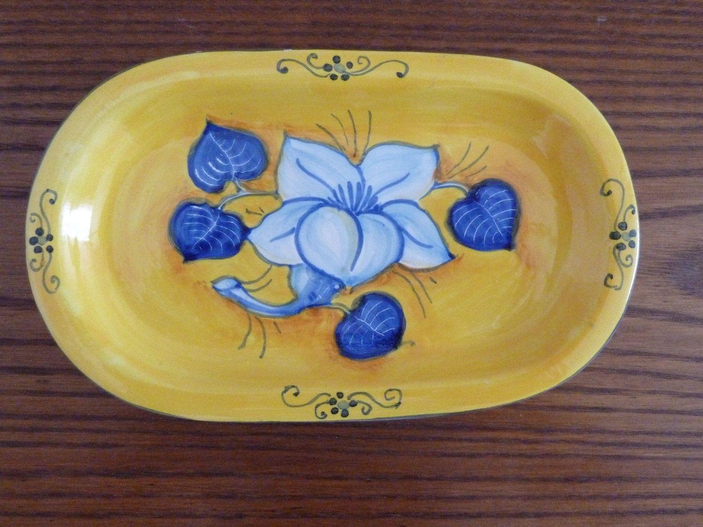 Vintage italian pottery este ceramiche cachepot w unique handles