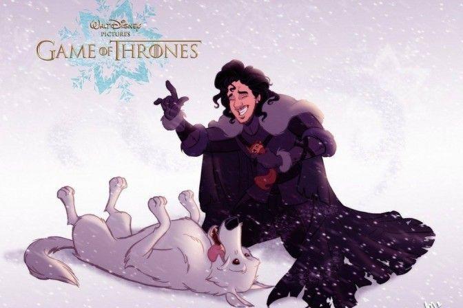 Game of Thrones mashup Disney Capa