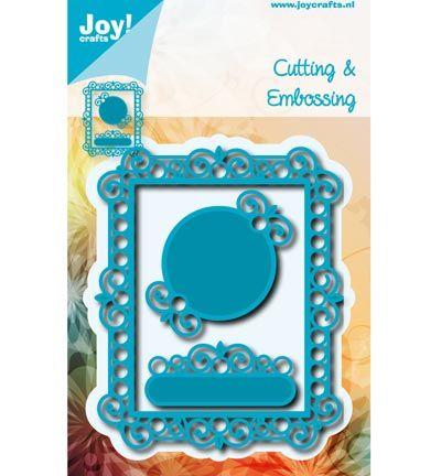 Joy!Crafts mallen 6002/0579 Rechthoek Frame met ro