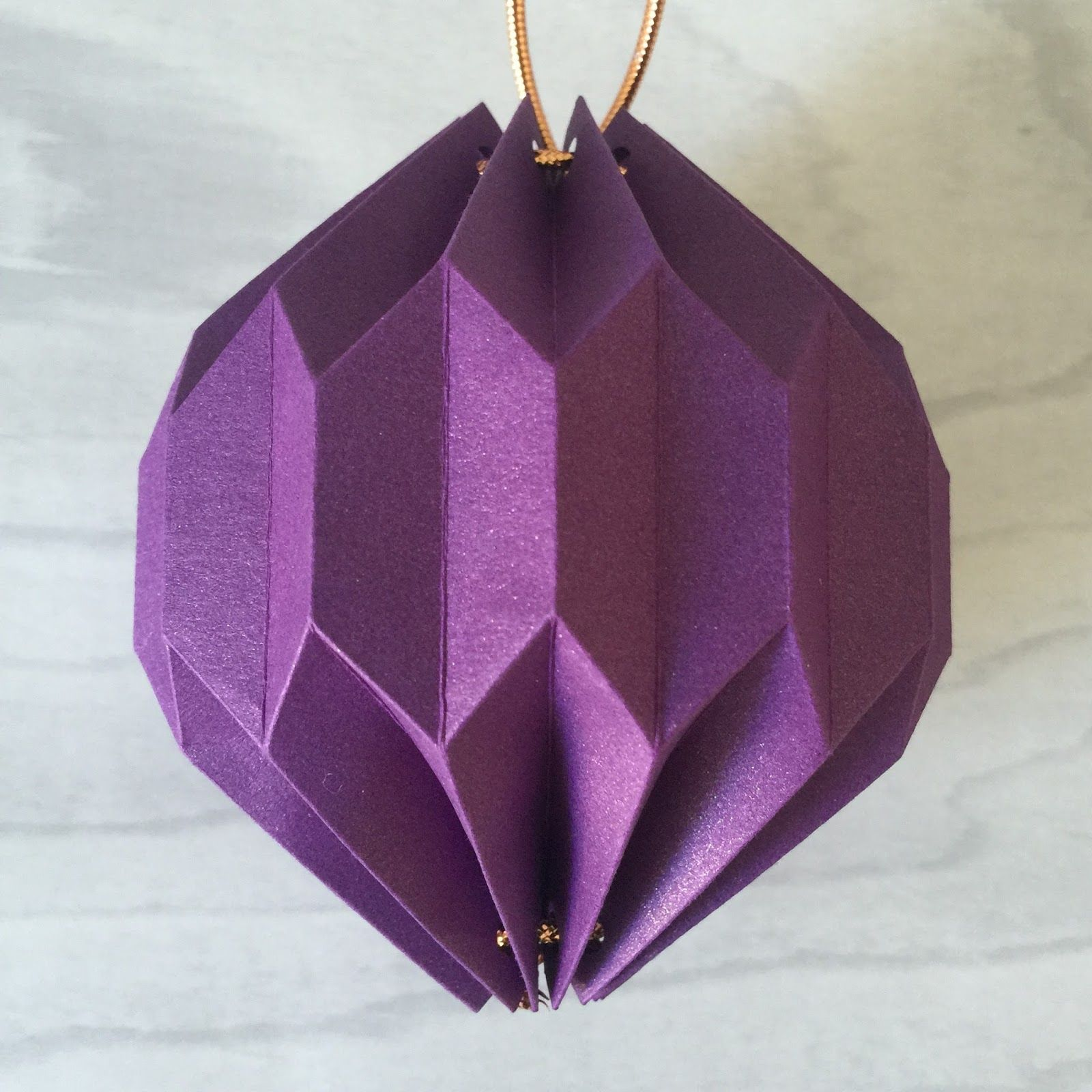 Completed Second Origami Lantern From Tutorial Using Silhouette
