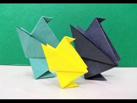 How To Make An Origami Paper Bird Chick Craft Art School