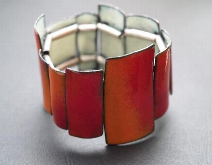 Enamel Bracelet  $420.00      QUOIL Artists - Contemporary Jewellery Gallery.  This site lists artists by name but does not identify which artist created which pieces.