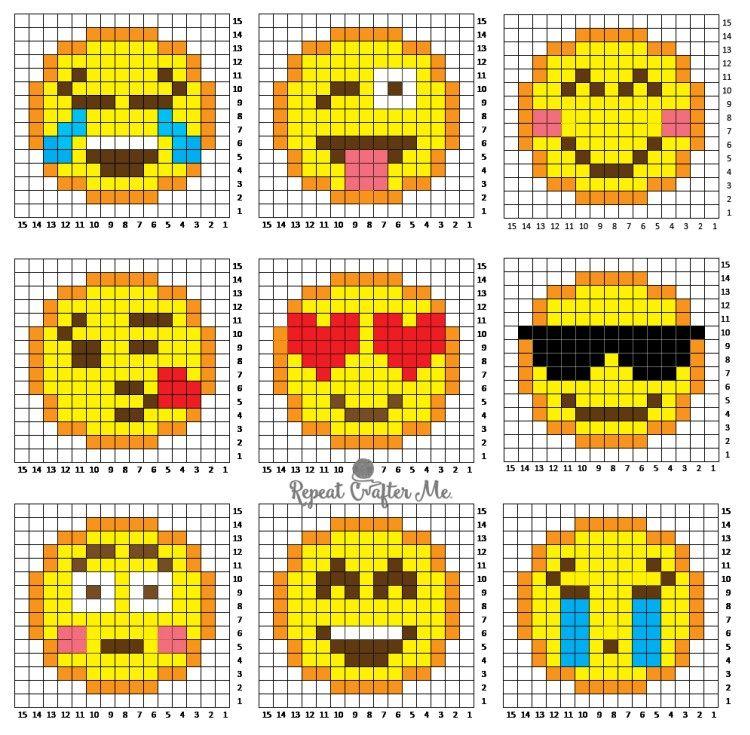 Crochet Emoji C2C Graphgan | Puntos, Punto de cruz y Esquemas