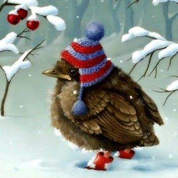 Cute Winter Wallpaper Cute Winter Bird Jigsaw Puzzle Christmas Art Christmas Bird Bird Art
