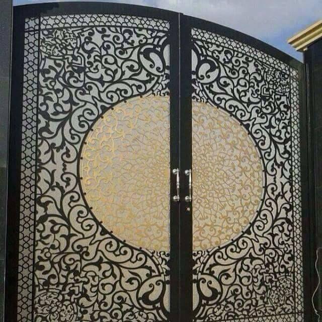 Door تنفيذ ابواب الحديد عادي زخرفه و ليزر الرياض 0530608113 Gate Design Simple Bedroom Design Lasercut Design