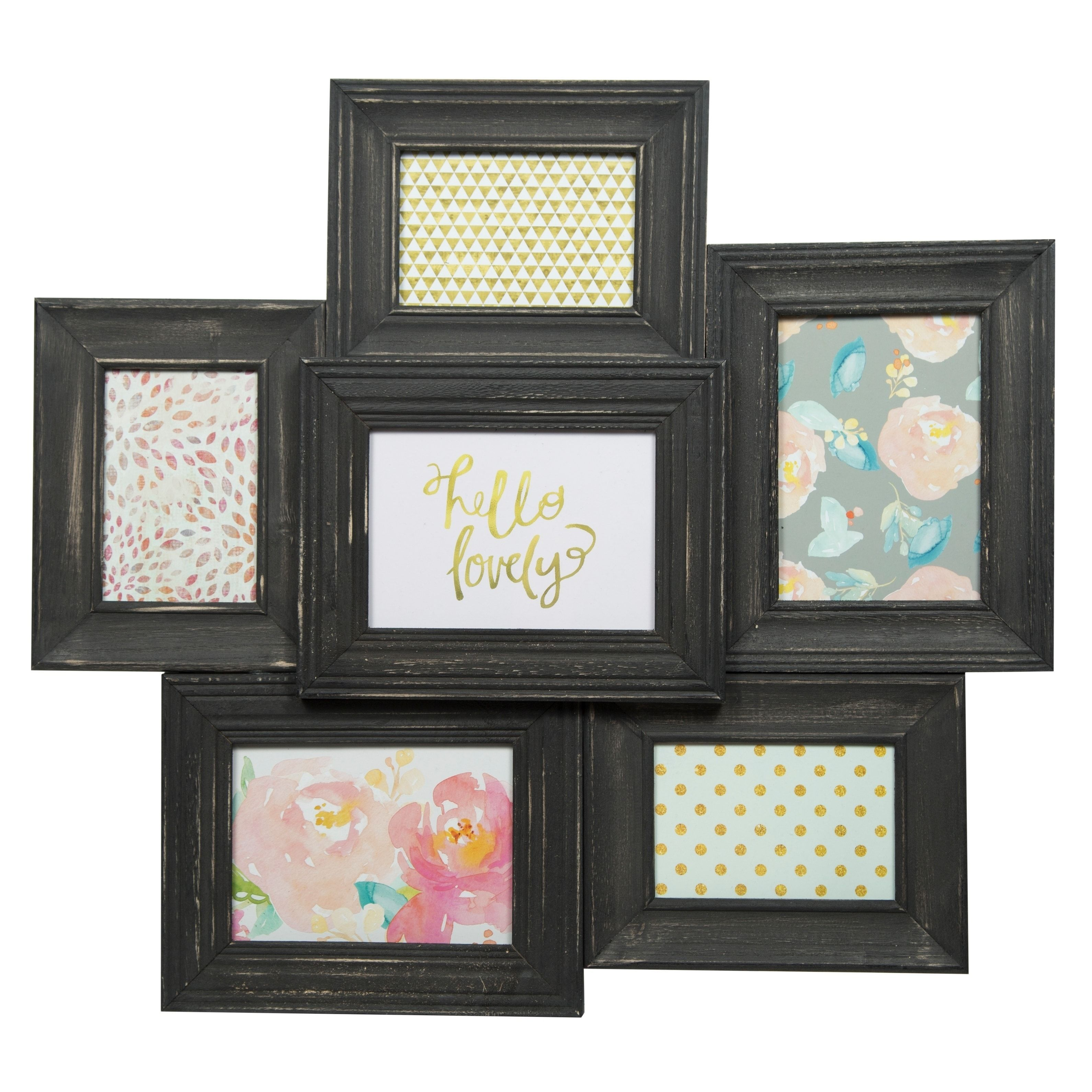 6 Opening Collage Black Picture Frame, Size 4x6 (Wood) | Black ...