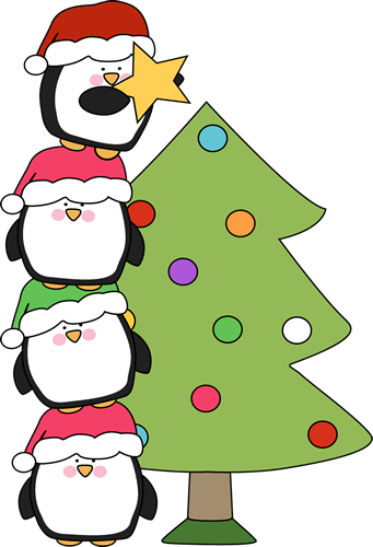 Cute Little Penguins Trying To Put A Star On A Tree Of All The Christmas Clip Art I Ve Made So Far Christmas Tree Images Cute Christmas Tree Christmas Penguin
