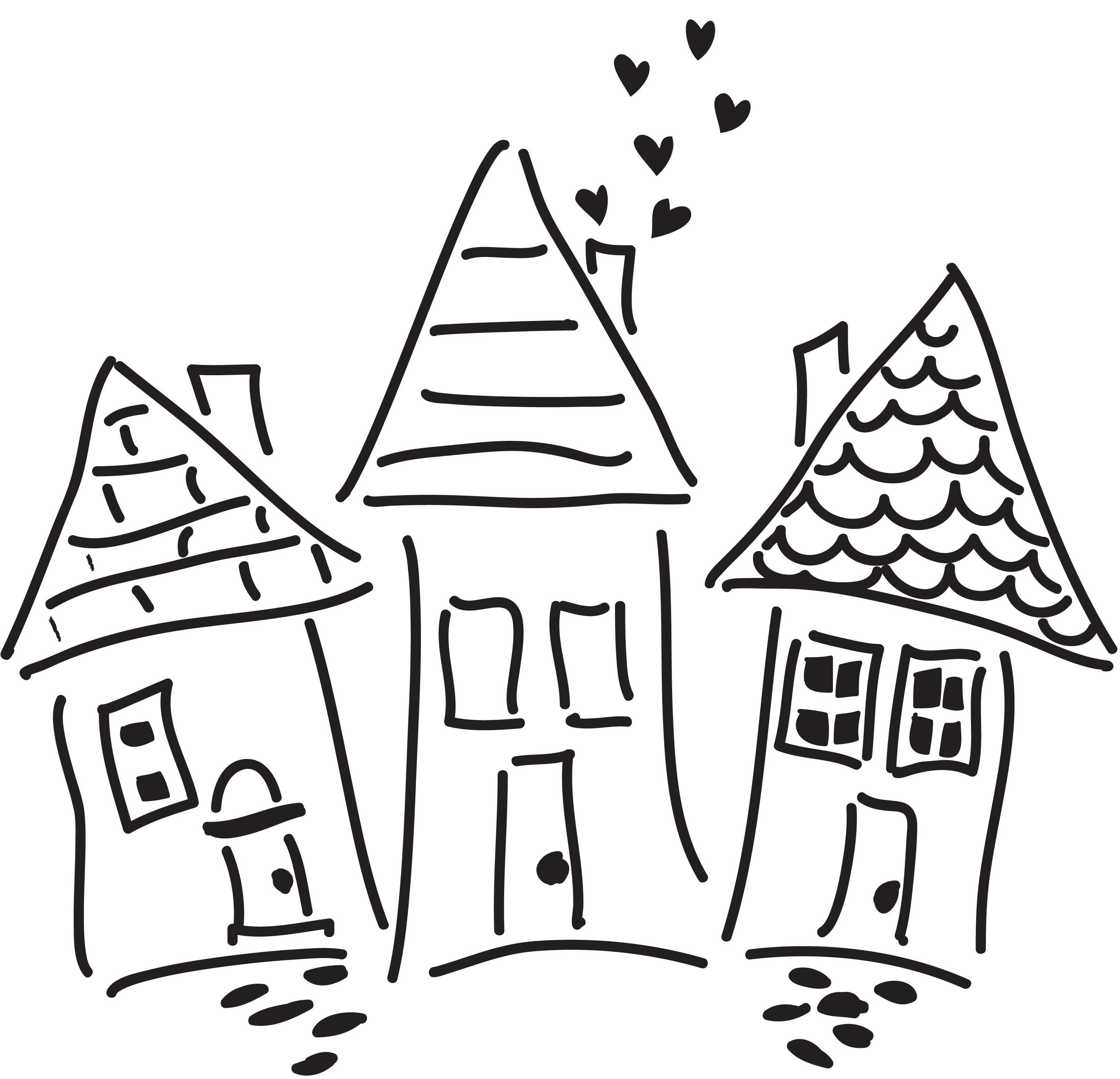 Whimsical Houses | Marks, Scribbles, and Doodles | Pinterest ...