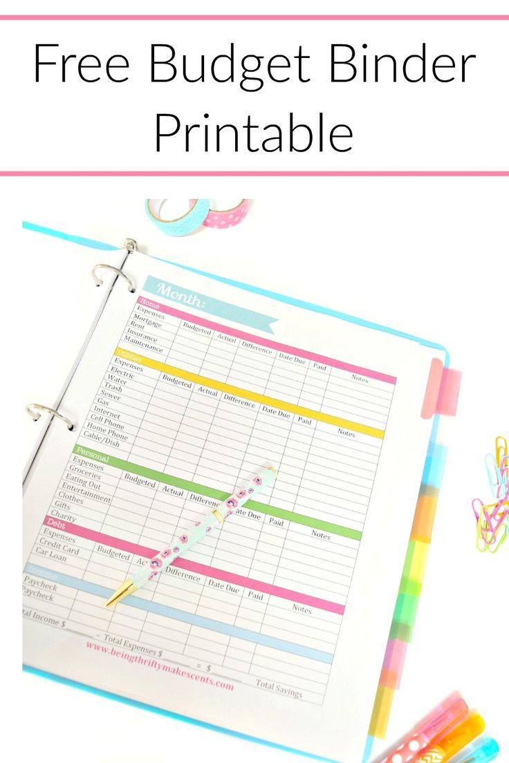 start saving money and pay off your debt by keeping track of your money with this free budget printable click thru to grab your free printable