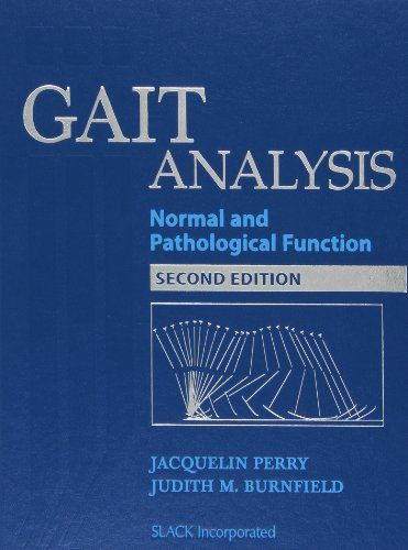 Gait Analysis Normal And Pathological Function Science Books