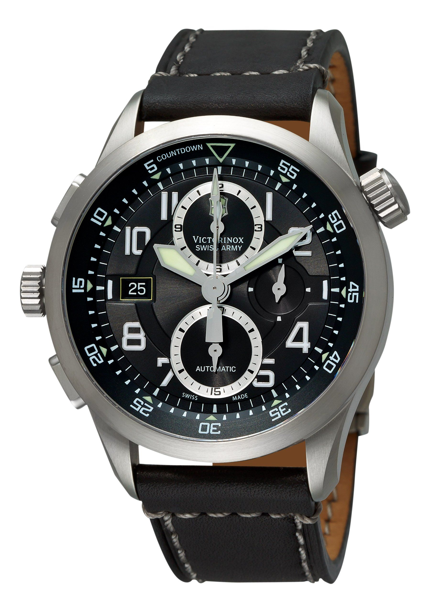 af57a4677 Victorinox Swiss Army Men's 241446 AirBoss Mach 8 Special Edition Black Chronograph  Dial Watch