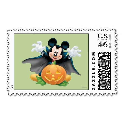 Halloween Mickey Mouse 1 Postage Stamp