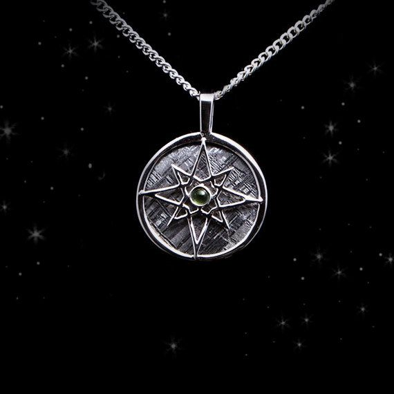 Meteorite necklace meteorite jewelry hand crafted gibeon meteorite necklace meteorite jewelry hand crafted gibeon meteorite silver pendant galaxy compass aloadofball Image collections