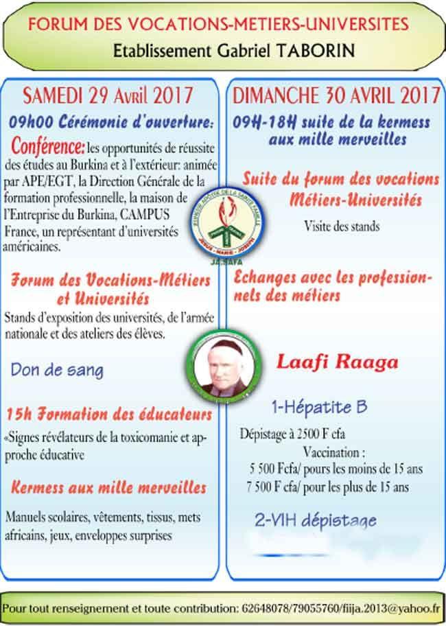 Forum des vocations, métiers, universités - leFasonet, l\u0027actualité