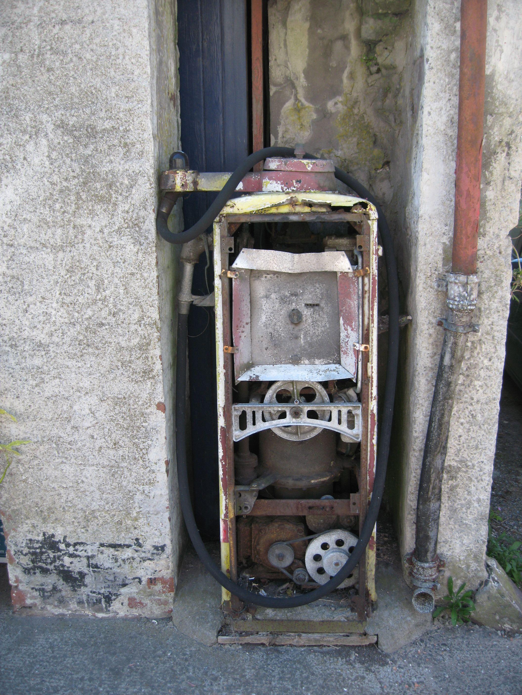 old petrol pump