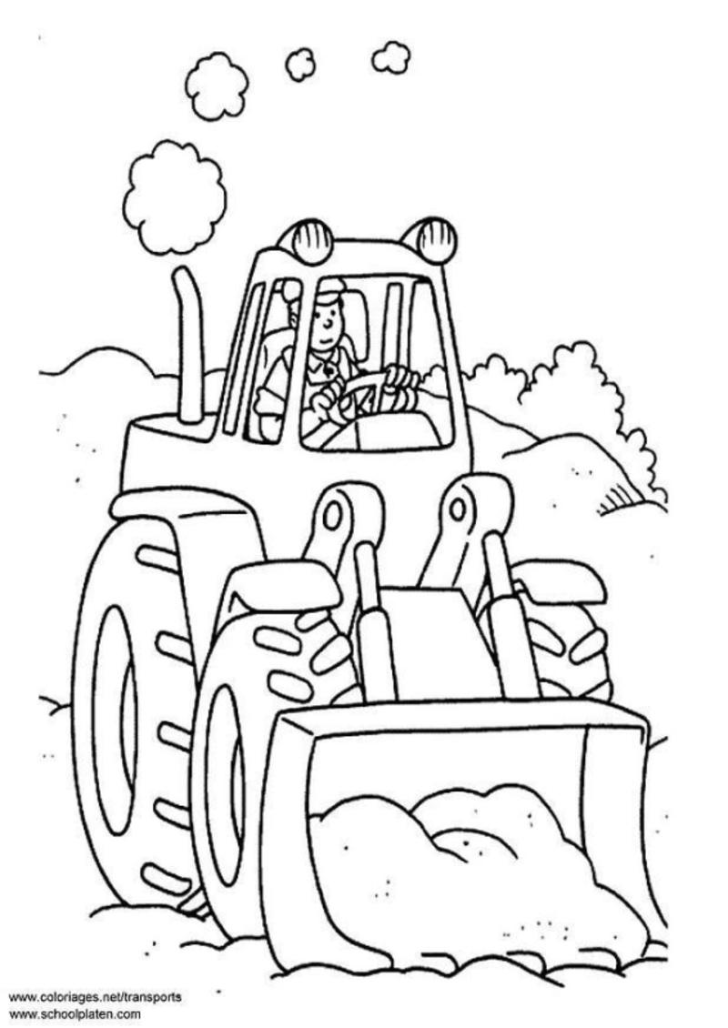 Kostenlose Ausmalbilder Traktor : Chantier Et Construction Traktoren Und Basteln