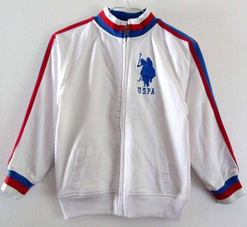 U S Polo Assn Kids Boys Outerwear Full Zip Light Jacket White Red And Blue 7x Uspoloassn Basicjacket Everyday Boy Outerwear Outerwear Jackets Kids Jacket [ 919 x 1000 Pixel ]