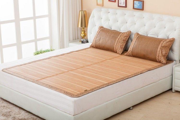 Chinese Bamboo Bed Mattress Floor Mat, Bamboo Queen Size Bed