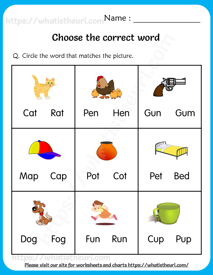 hight resolution of Choose the Correct Word – Worksheets for Grade 1 in 2021   1st grade  worksheets