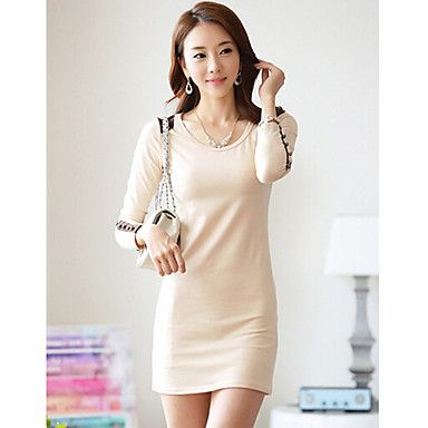 J&K Women's Round Neck Ol Dress – USD $ 14.99