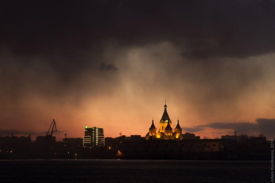 Снеговая туча на закате - Красивые фото Нижнего Новгорода ...