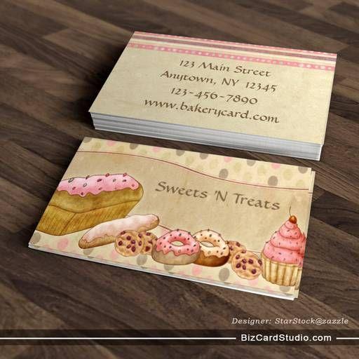 Bakery Business Cards BizCardStudiocom cool business card