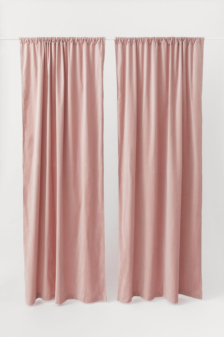 2 Pack Velvet Curtain Panels Pink Curtains Velvet Curtains