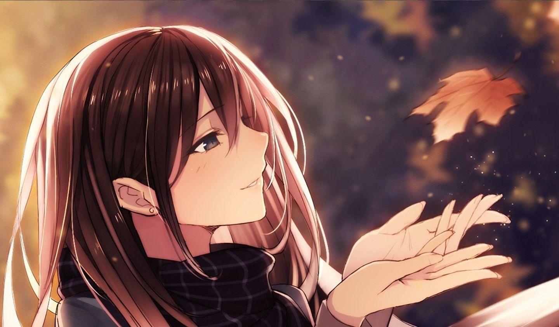 Anime girl braune haare