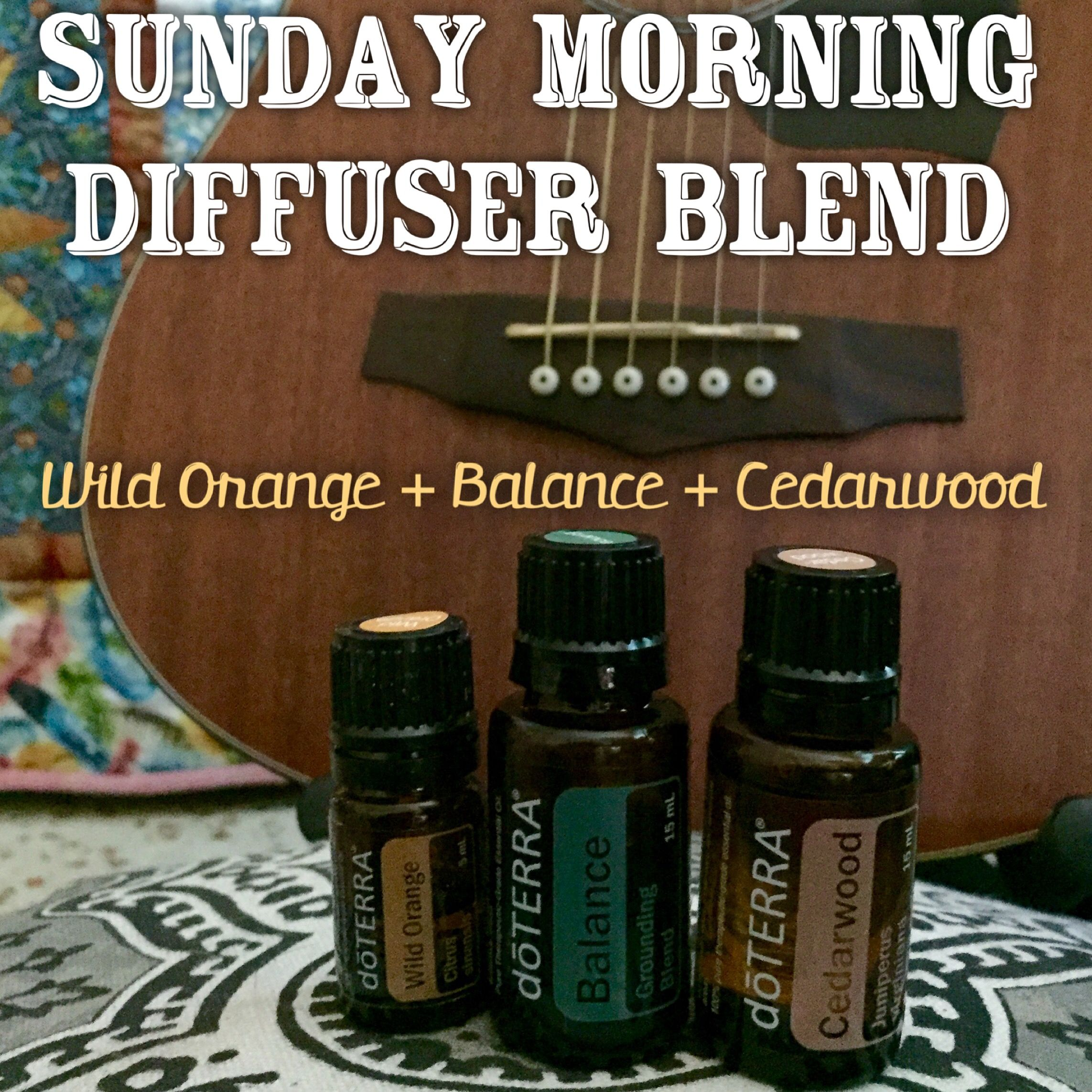 An essential oil diffuser blend for Sunday morning! A blend of ...