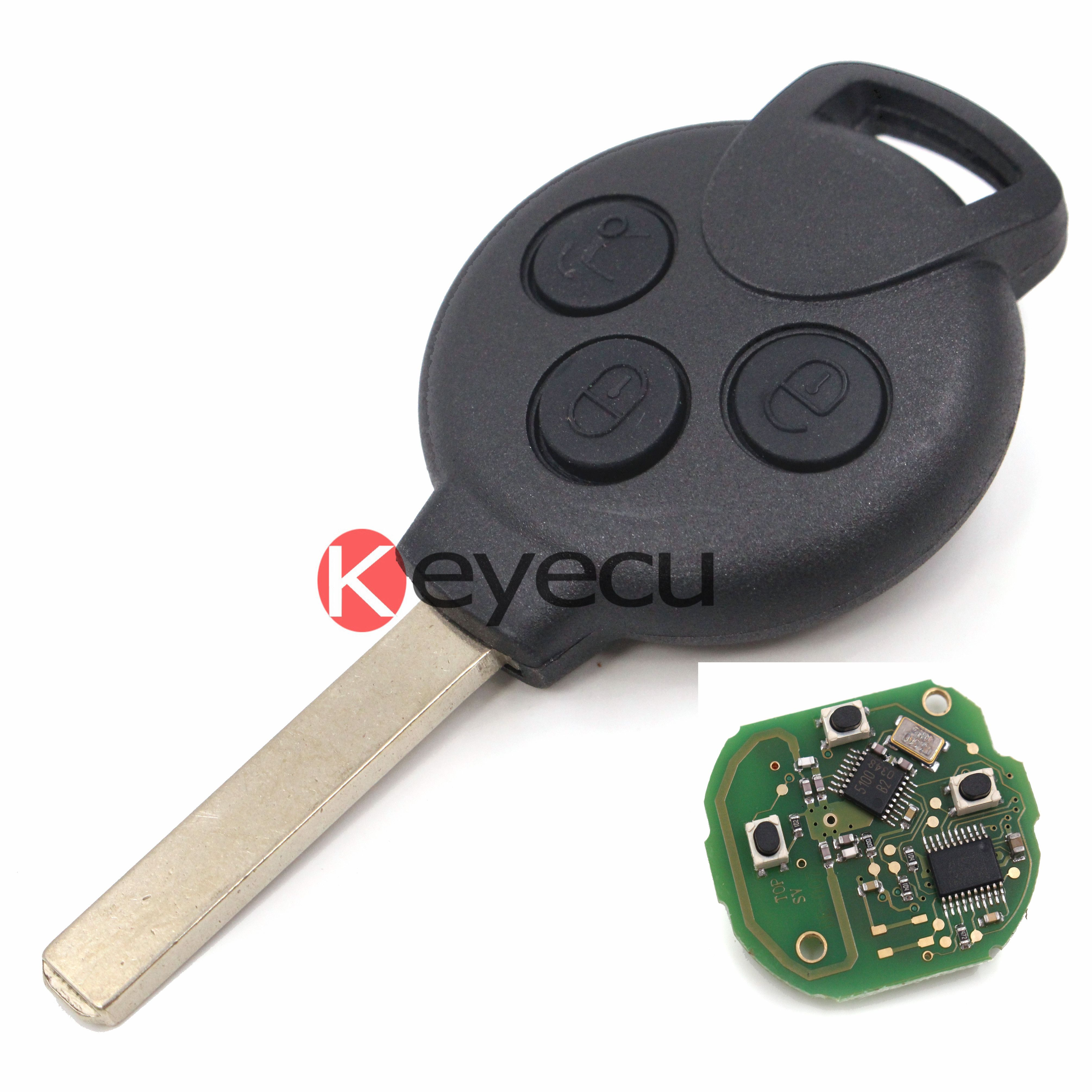 Brand New Remote Key Keyless Entry Fob 3 Button For Mercedes Benz