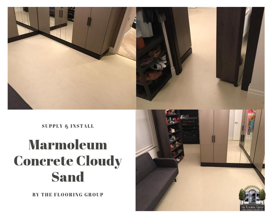 Marmoleum Flooring Installed In Kilburn Flooring