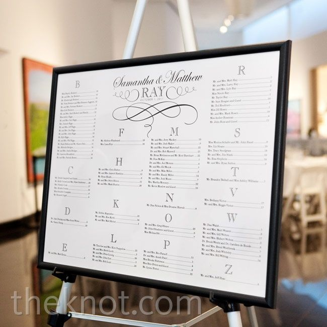 wedding table assignments board | Poster table assignment board ...