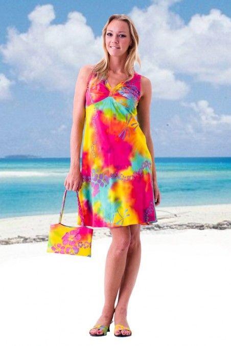165de685b845 Cute Tropical Breeze Tank Dress at Tropical Tantrum. Free shipping ...