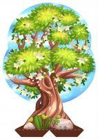 Весеннее дерево. Картинка для макета. | Зимние деревья ...