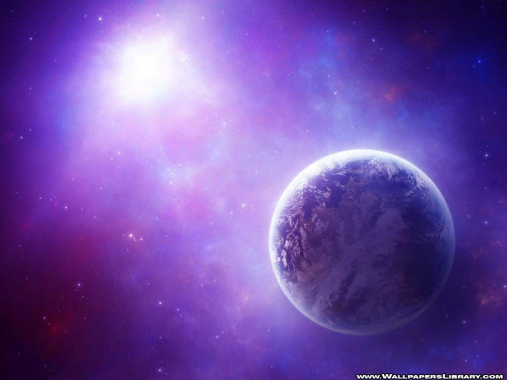 purple and blue planets - photo #9