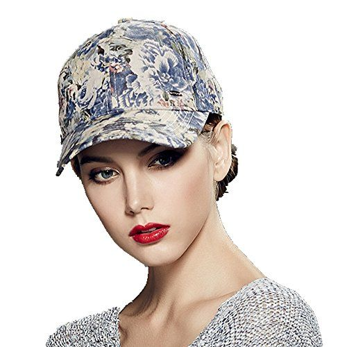 41a8be7bffb Kenmont Women Lady Girl Spring Autumn 100% Cotton Flower Printing Visor Hat…